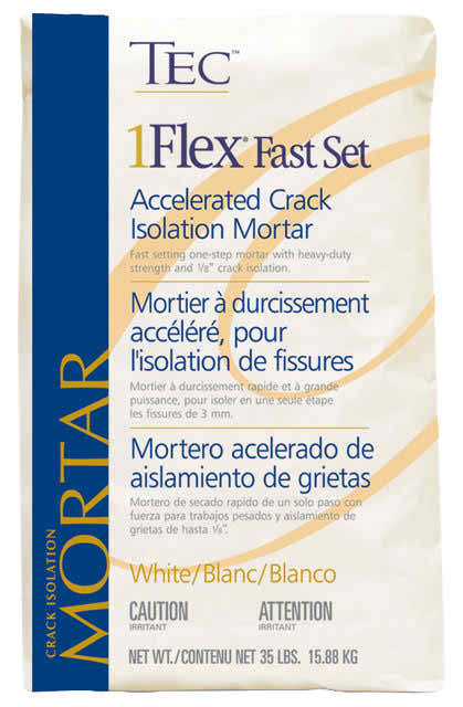 Tec Fast Set 1Flex Accelerated 1/4″ Crack Isolation Mortar